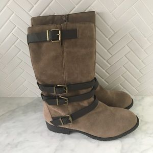 NWOB Dolce Vita Brown Suede Boots Size 5